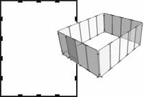 Garden Defender 8 by 10 Modular Fencing System